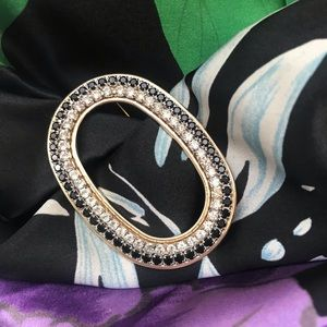 Vintage large oval brooch